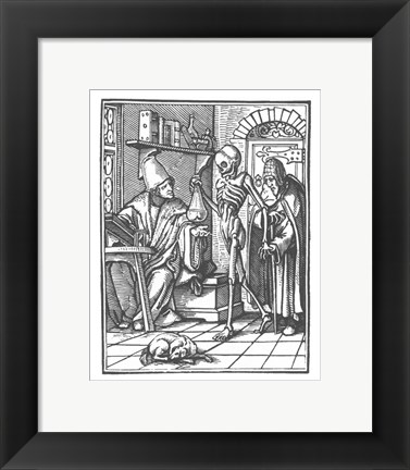 Framed Holbein Dance of Death II Print
