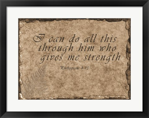 Framed Philippians Quote Print