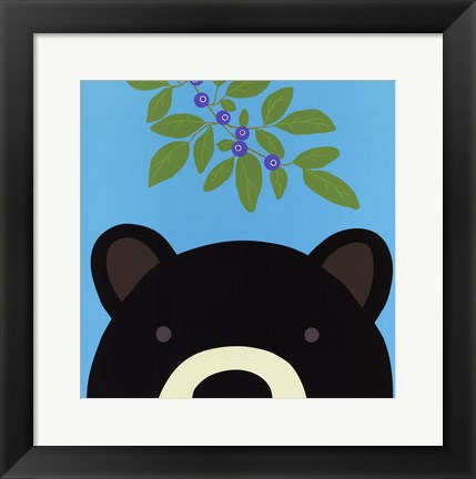 Framed Peek-a-Boo Bear Print