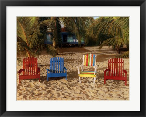 Framed Grab A Chair Print