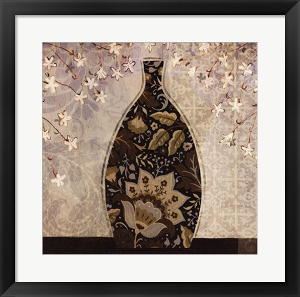 Framed Floral Ornament II Print