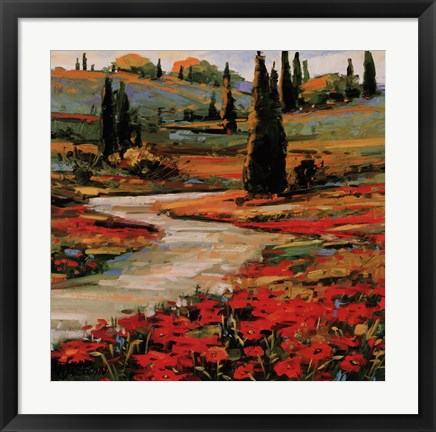 Framed Hills In Bloom II Print