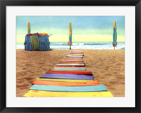 Framed Beach Walk Print