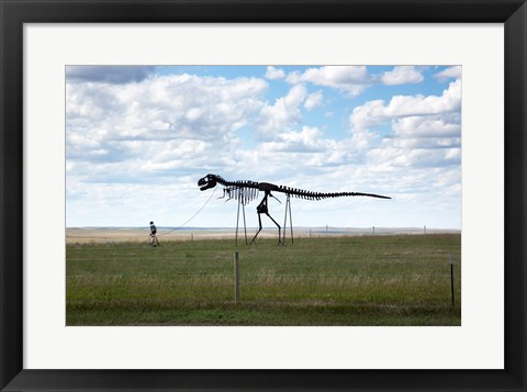 Framed Dinosaur Sculpture Print