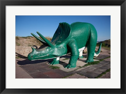 Framed Triceratops Sculpture Print