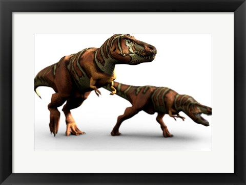 Framed T Rex Pair Print
