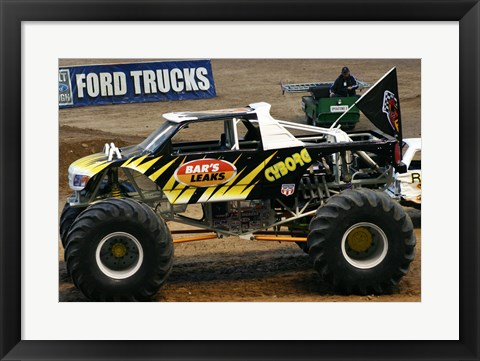 Framed Cyborg Monster Truck Print