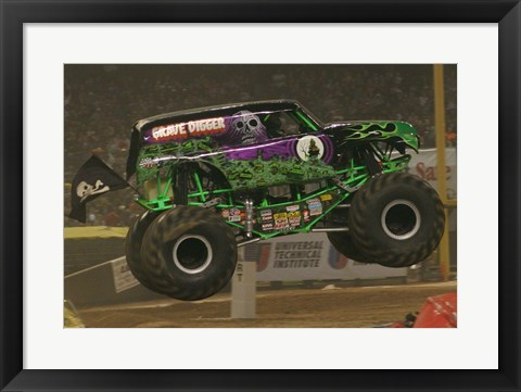 Framed Grave Digger Monster Truck Print