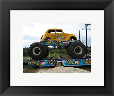 Framed Monster Truck Beetle Print