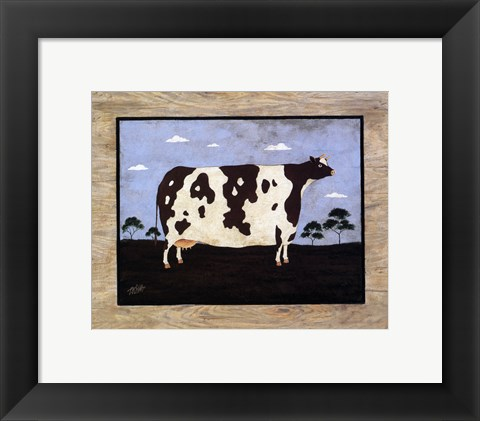 Framed Cow I Print