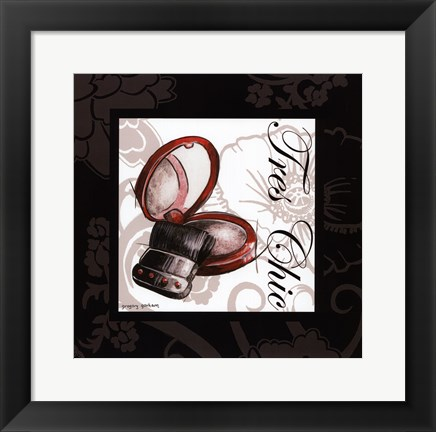 Framed Makeup Bag II Print