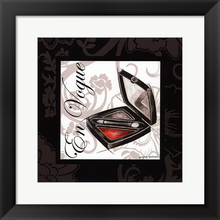 Framed Makeup Bag III Print