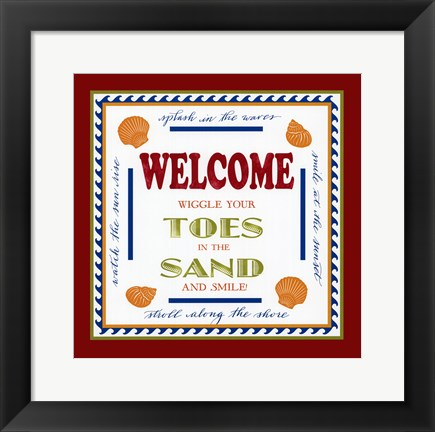 Framed Beach Sand Print