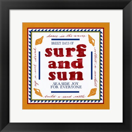 Framed Beach Surf Print