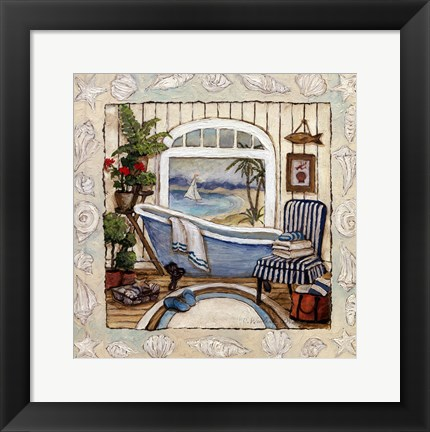 Framed SEA BREEZE BATH II Print