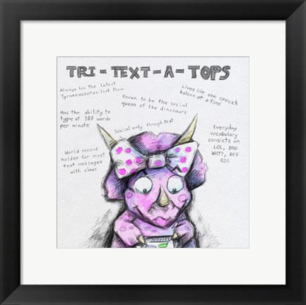 Framed Tri Text ATops Print