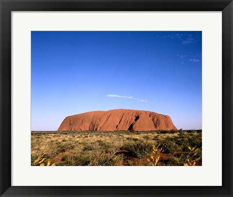 Framed Rock formation on a landscape, Uluru-Kata Tjuta National Park, Australia Print