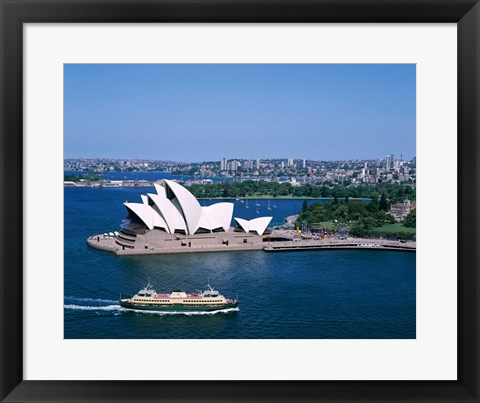 Framed High angle view of an opera house, Sydney Opera House, Sydney, Australia Print