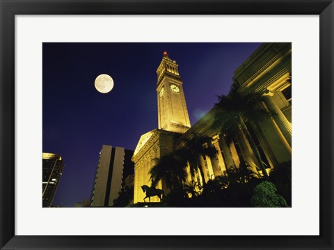 Framed City Hall King George Square Brisbane Australia Print