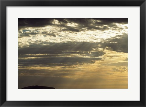 Framed Clouds Over Ayers Rock, Australia Print