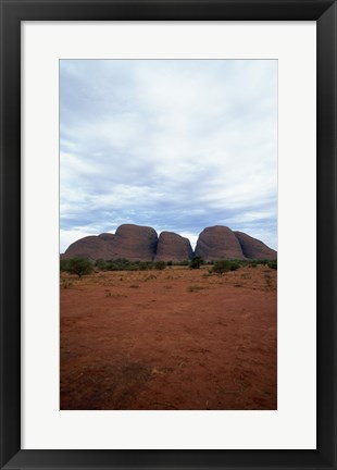 Framed Rock formations on a landscape, Olgas, Uluru-Kata Tjuta National Park, Northern Territory, Australia Vertical Print