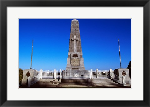 Framed Low angle view of an obelisk, King's Park, Perth, Australia Print