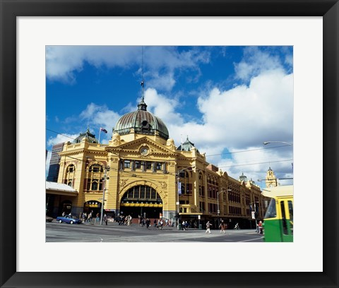 Framed Low angle view of a shot tower, Melbourne Central, Melbourne, Victoria, Australia Print