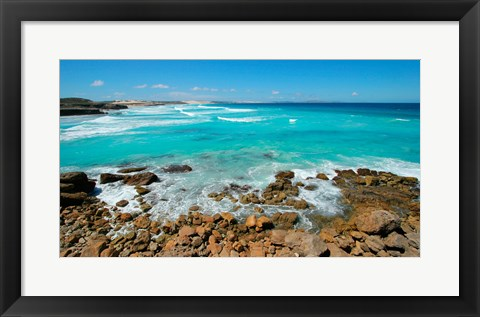 Framed Rocks on the coast, Sleaford Bay, Australia Print