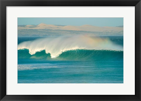 Framed Curling wave in the sea, Sleaford Bay, Australia Print
