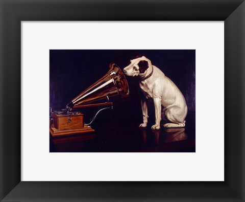 Framed His Masters Voice Print