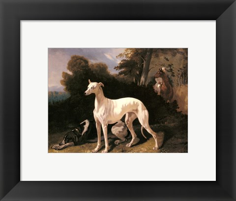 Framed Alfred Dedreux - A Greyhound In An Extensive Landscape Print