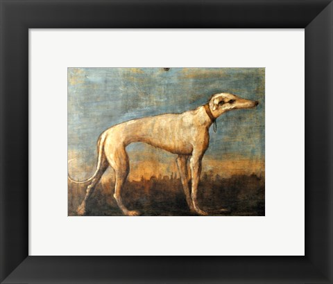Framed Greyhound, Giandomenico Tiepolo Print