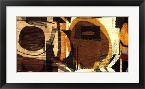 Framed Graphic Abstract I Print