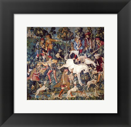 Framed Hunt of the Unicorn Tapestry Print