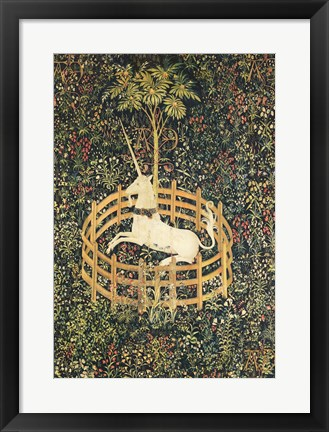 Framed Unicorn in Captivity Print