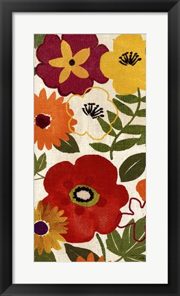 Framed Watercolor Garden Panel II Print