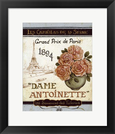 Framed French Seed Packet II Print