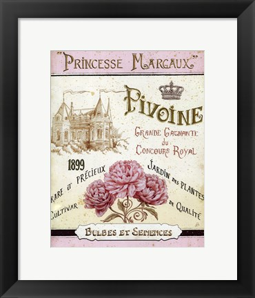 Framed French Seed Packet III Print