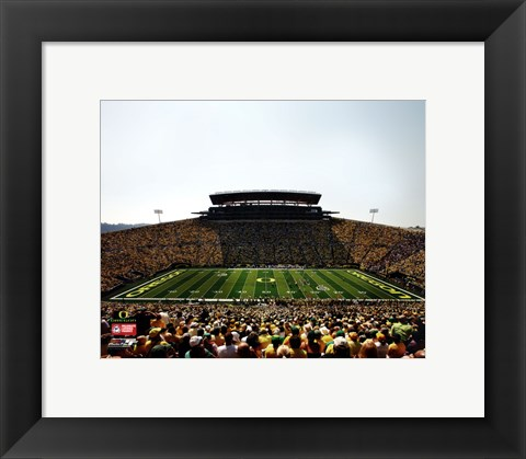 Framed Autzen Stadium University of Oregon Ducks 2011 Print