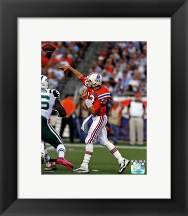 Framed Tom Brady 2011 Action Print