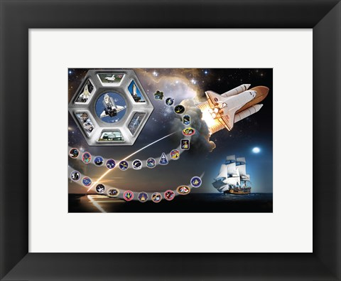 Framed Tribute To Endeavour Print