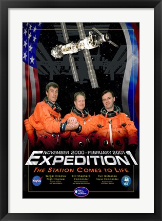 Framed Expedition 1 Crew Poster Print