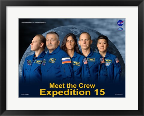 Framed Expedition 15 Crew Poster Print