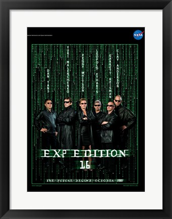 Framed Expedition 16 The Matrix Crew Poster Print
