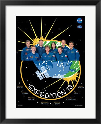 Framed Expedition 19 Crew Poster Print