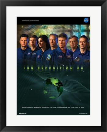 Framed Expedition 20 Crew Poster Print