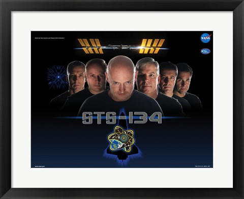 Framed NASA STS-134 Official Mission Poster Print