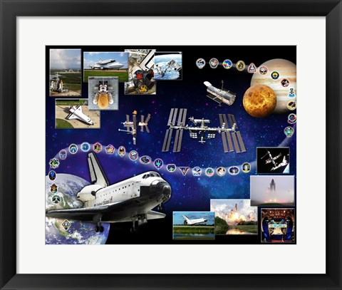 Framed Space Shuttle Atlantis Tribute 1 Print