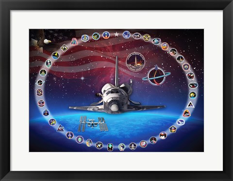 Framed Space Shuttle Discovery Tribute Print
