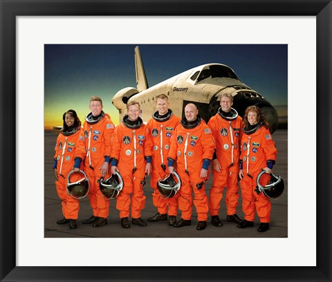 Framed STS 121 Crew Portrait Print